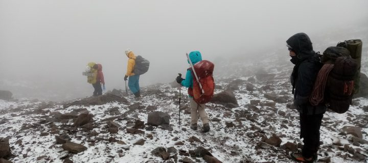 Bad weather adventure at Chimborazo